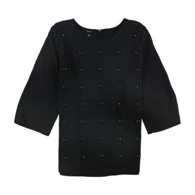 レディース 衣類 トップス Alfani Womens Studded Pullover Blouse Black Large ブラウス&シャツ