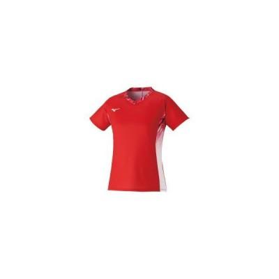 ミズノ  ミズノ ゲームシャツ(ラケットスポーツ)[レディース] イグニッションレッド(72ma122361)  スポーツ用品 取り寄せ