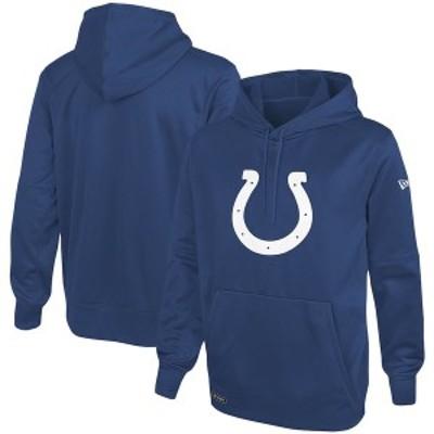 ニューエラ メンズ パーカー・スウェット アウター Indianapolis Colts New Era Combine Stadium Logo Pullover Hoodie Royal