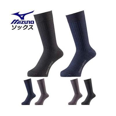 ミズノ ビジネスソックス メンズ ブレスサーモ ソックスミドル2P 靴下 C2JX8660 ソックス ミドル丈 92