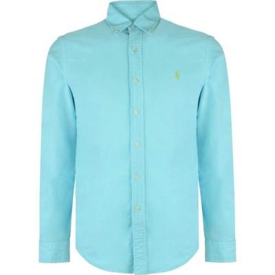ラルフ ローレン Polo Ralph Lauren メンズ シャツ スリム ワイシャツ トップス Slim Fit Garment Dyed Oxford Shirt Hammond Blue