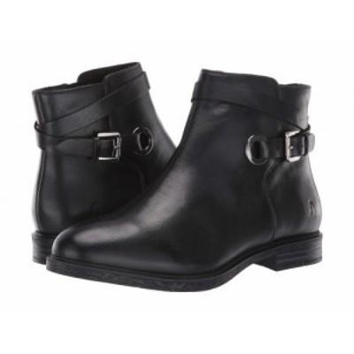 Hush Puppies ハッシュパピーズ レディース 女性用 シューズ 靴 ブーツ アンクル ショートブーツ Bailey Strap Boot Black【送料無料】