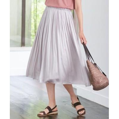 J.PRESS/ジェイプレス 【洗える】ヴィンテージサテン スカート グレージュ系 13