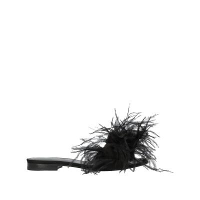 .AMEN. サンダル ブラック 36 紡績繊維 サンダル