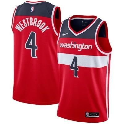 ナイキ メンズ Tシャツ トップス Russell Westbrook Washington Wizards Nike 2020/21 Swingman Player Jersey Red