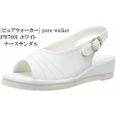 pure walker(ピュアウォーカー) PW7601 ナースシューズ ナースサンダル 看護師向けシューズ やわらかインソール  軽量設計  レディス