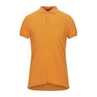 PEOPLE OF SHIBUYA ポロシャツ オレンジ M コットン 94% / ポリウレタン 6% ポロシャツ