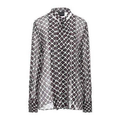 ATOS LOMBARDINI リボン付きシャツ&ブラウス ファッション  レディースファッション  トップス  シャツ、ブラウス  長袖 ブラック