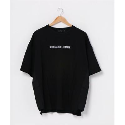 FUNALIVE / 【RINGS】サイドポケット ロゴテープ ビッグシルエットT MEN トップス > Tシャツ/カットソー