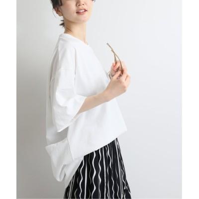 【イエナ】 別注 PROTECT Tシャツ◆ レディース ホワイト フリー IENA