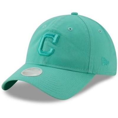レディース スポーツリーグ メジャーリーグ Cleveland Indians New Era Women's Blue Tint Core Classic 9TWENTY Adjustable Hat - Aqua -