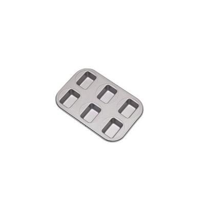 業務用 フッ素樹脂 ベイクウェアー No.57305 ミニパウンドケーキ型 6P(8-1072-2101)