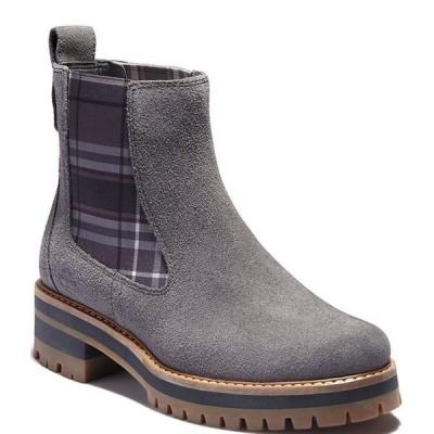 ティンバーランド レディース ブーツ・レインブーツ シューズ Courmayeur Valley Chelsea Suede Plaid Boots