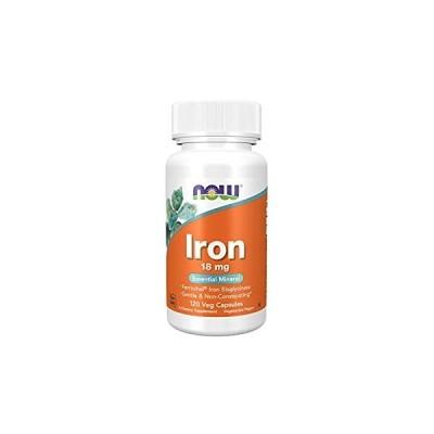 [海外直送品] ナウフーズ  Iron Ferrochel(r) 120 Vcaps 18 mg