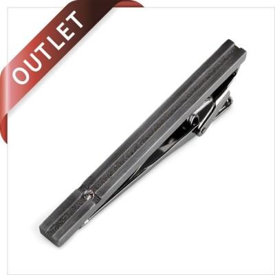 (アウトレット)ネクタイピン スワロフスキー 真鍮製 日本製 サテーナ×ホーニング加工 TAVARAT Tps-032