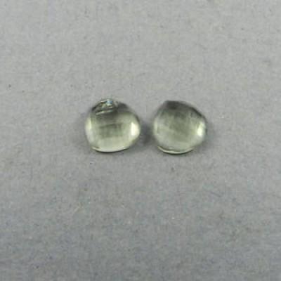 【海外からのお取り寄せ】アメシスト Pair Natural Green Amethyst Gemstone 10mm Checker Cut Cab 7.15 cts Stones ER5976