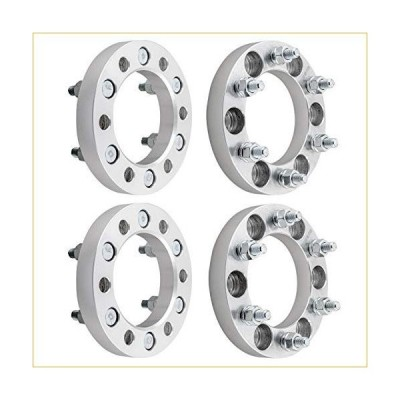 "DCVAMOUS 6x5.5 Wheel Spacers Compatible with ChevyGMC 6 Lug, 4pc 1"" Wheel Spacers with 14x1.5 Studs for Suburban Express Silverado 1500 Tahoe,Yukon Sa"