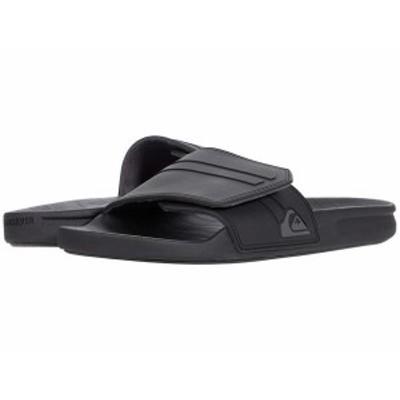クイックシルバー メンズ サンダル シューズ Rivi Slide Adjust Black/Grey/Blac