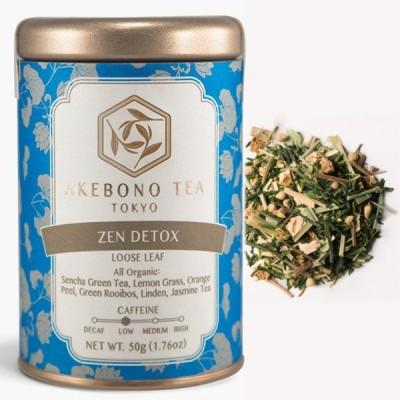 ゼン デトックス 50g 缶 茶葉 オーガニック 有機 低カフェイン レモングラス グリーンルイボス  日本茶 緑茶 煎茶 ハーブティー 紅茶 おしゃれ かわいい ギフト
