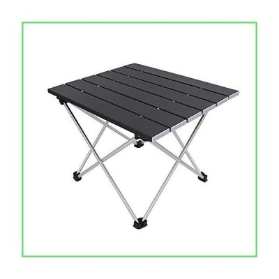 Grope Portable Camping Table with Aluminum Table Top, Folding Beach Table Easy to Carry, Prefect for Outdoor, Picnic, BBQ, Cooking, Festival
