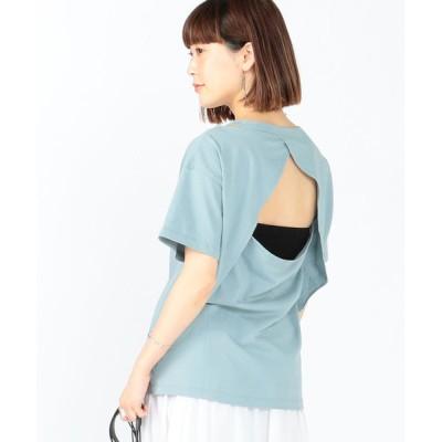 BEAMS WOMEN / Ray BEAMS / バック オープン クルーネック Tシャツ WOMEN トップス > Tシャツ/カットソー