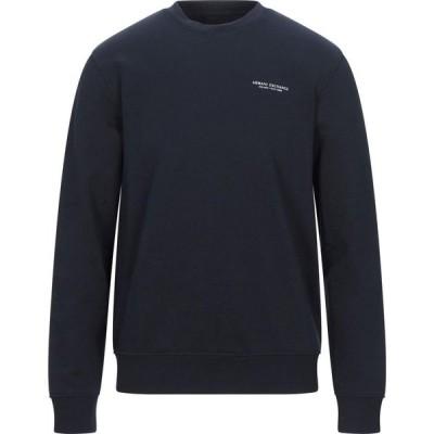 アルマーニ ARMANI EXCHANGE メンズ スウェット・トレーナー トップス sweatshirt Dark blue