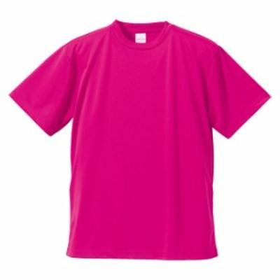 Tシャツ 半袖 メンズ ドライ アスレチック 4.1oz L サイズ トロピカルピンク 無地 ユナイテッドアスレ CAB