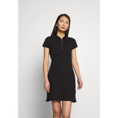 トミー ヒルフィガー ワンピース レディース トップス SLIM DRESS - Day dress - black