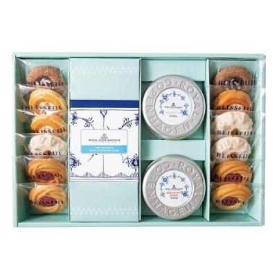 4種の焼き菓子 & ロイヤル コペンハーゲン ROYAL COPENHAGEN ティーバッグとコーヒーセット 15個 スイーツ 内祝い 手土産 ギフト