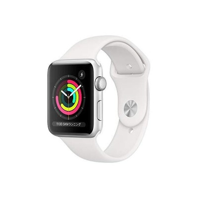Apple Watch Series 3 GPSモデル 42mm シルバーアルミニウムケースとホワイトスポーツバンド レギュラー MTF22J/A
