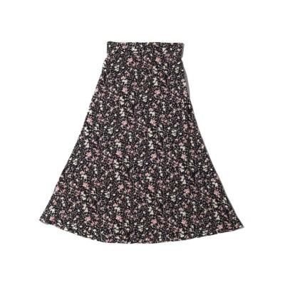 (atmos pink/アトモスピンク)アトモスピンク ハナガラ フレアスカート/レディース ブラック