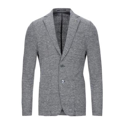 パオローニ PAOLONI テーラードジャケット ダークブルー 48 コットン 70% / リネン 30% テーラードジャケット