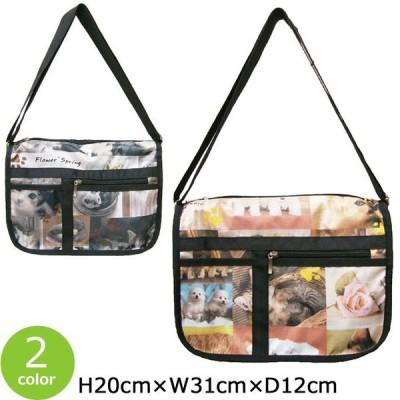ショルダーバッグ レディース 軽量 バッグ 女性 かわいい カバン 軽い コンパクト 犬 猫 いぬ ねこ柄 ミニバッグ 小さい 鞄 女性 婦人 送料無料