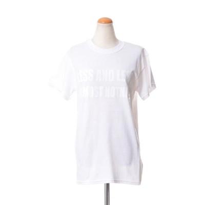 エリカカヴァリーニ ERIKA CAVALLINI 文字入りTシャツ コットン ホワイト