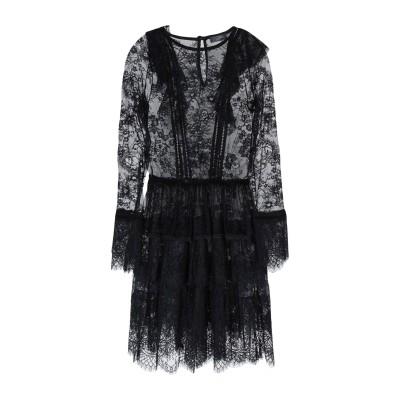 SOALLURE ミニワンピース&ドレス ブラック 42 ナイロン 100% ミニワンピース&ドレス