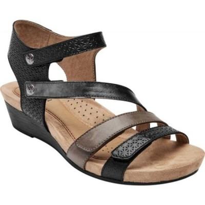 ロックポート Rockport レディース サンダル・ミュール シューズ・靴 Cobb Hill Hollywood 4 Strap Sandal Black Multi