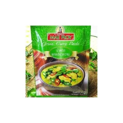 メープロイ グリーンカレーペースト 50g(4人前分)X5袋◆激辛カレーペースト(タイ料理) ハラル認証