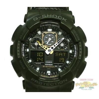 CASIO カシオ G-SHOCK ジーショック メンズ腕時計 ウレタン樹脂 キャンバスベルト GA100-MC クオーツ