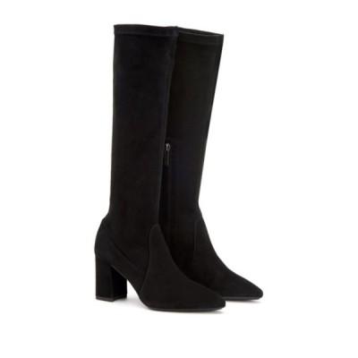 アクアタリア レディース ブーツ&レインブーツ シューズ Phillina Tall Leather Block Heel Boot BLACK