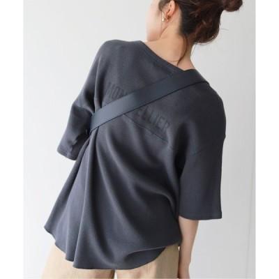 tシャツ Tシャツ MONTPELLIER バックプリントワッフルプルオーバー【手洗い可能】◆