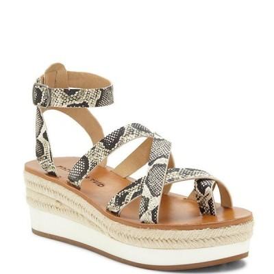 ラッキーブランド レディース サンダル シューズ Jakina Snake Print Platform Wedge Sandals