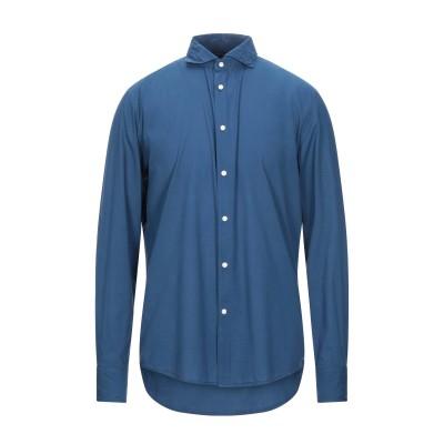 DEPERLU シャツ ブルー XL コットン 100% シャツ