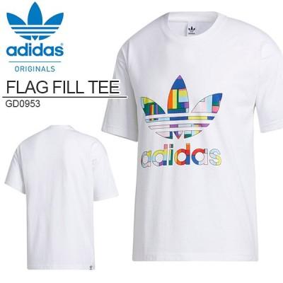 30%OFF 半袖 Tシャツ adidas ORIGINALS アディダス オリジナルス メンズ FLAG FILL TEE ビッグロゴ ホワイト 白 2020秋新作 IZC92