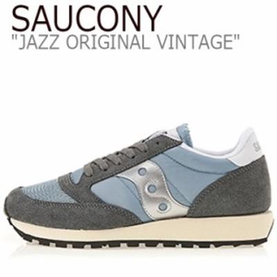 サッカニー ジャズオリジナル スニーカー SAUCONY JAZZ ORIGINAL VINTAGE ジャズ オリジナル ヴィンテージ グレー S60368-39 シューズ