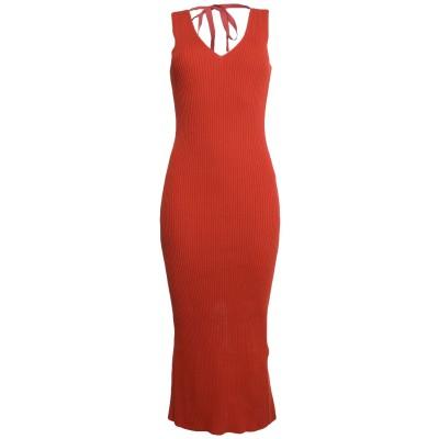 MM6 メゾン マルジェラ MM6 MAISON MARGIELA 7分丈ワンピース・ドレス 赤茶色 S コットン 94% / ナイロン 6% 7分