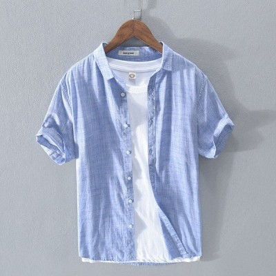 オックスフォードシャツ シャツ メンズ 半袖 無地 開襟シャツ シンプル カラフル 春夏 新作
