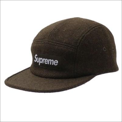 SUPREME(シュプリーム) Harris Tweed(ハリスツイード) Featherweight Wool Camp Cap (キャンプキャップ) OLIVE 265-000974-015+【新品】(ヘッドウェア)