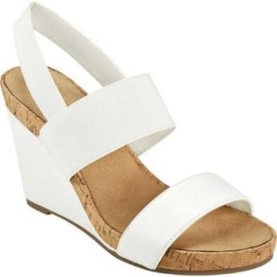 エアロソールズ Aerosoles レディース サンダル・ミュール ウェッジソール シューズ・靴 Putnam Slingback Wedge Sandal White Fenice Fa