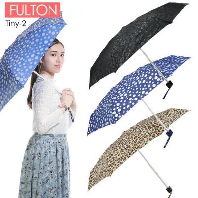 FULTON フルトン 折りたたみ傘 レディース傘 雨傘 ハンドバックサイズ レパード 水玉 ヒョウ柄 L501 Tiny-2
