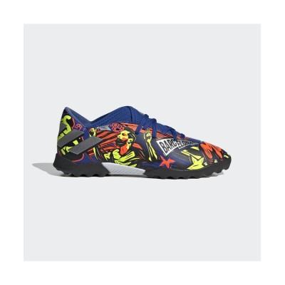 (adidas/アディダス)アディダス/キッズ/ネメシス メッシ 19.3 TF J/ チームロイヤルブルー/シルバーメタリック/ソーラーイエロー
